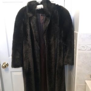 Jackets & Blazers - Vintage Mouton Long Fur Coat